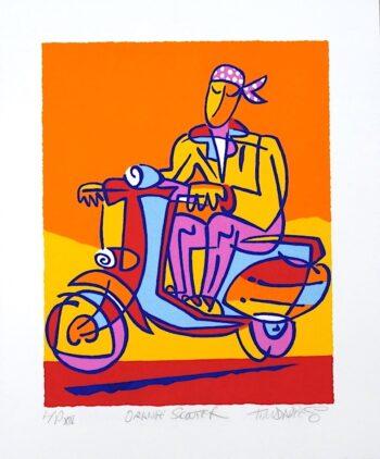 Tim Davies Orange Scooter