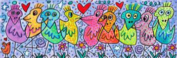 James Rizzi A bunch of beautiful birds