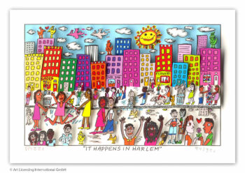 James Rizzi It happens in Harlem