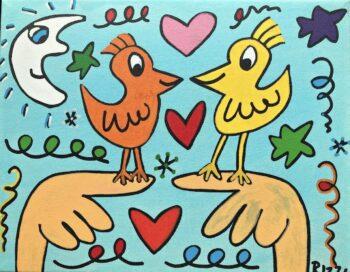 James Rizzi Love those love birds