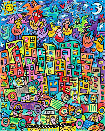 James Rizzi Me and you and the city too