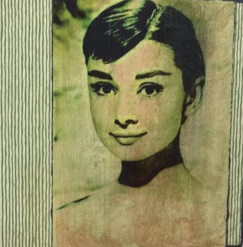 Jane Framer Kunstblock Audrey Hepburn