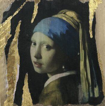 Jane Framer Kunstblock Perlohrring